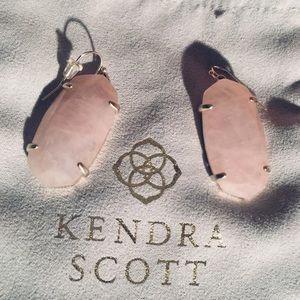 Kendra Scott Rose Quartz Earrings